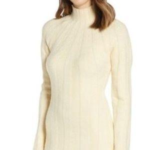 4SI3NNA Wide Rib Sweater Dress SIZE MED